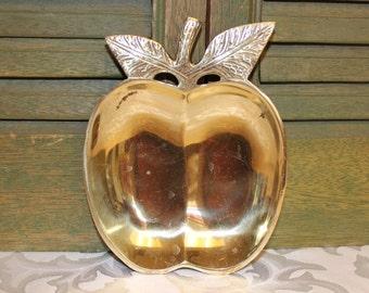 Brass Apple Dish - Vintage Brass Apple
