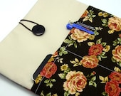SALE - iPad Air case, iPad cover, iPad sleeve with 2 pockets, PADDED - Roses (56)