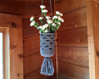 Crocheted Hanging Lanterns/Flower Vases
