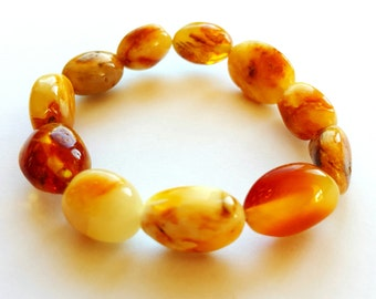 NATURAL BALTIC AMBER Adult Bracelet