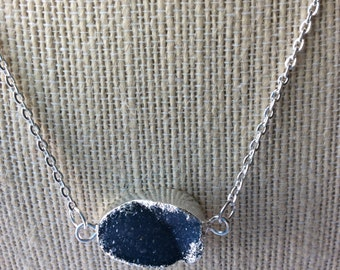 Agate Druzy Geode Necklace or Bracelet