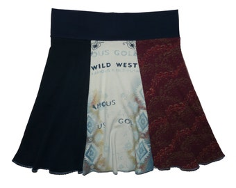 Boho Hippie Women's Large XL Size 12 14 Yoga Skirt Upcycled Skirt recycled t-shirt clothing Twinkle Skirts Twinklewear