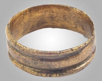 Vintage Antique Ancient Wedding band Viking Ring C.866-1067AD. Size 6   (16.2mm)(BRR146)
