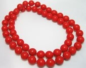 Valentine Necklace - Pop It Bead Necklace - Snap Bead Necklace - Red Plastic Necklace - Retro Kitsch - 1950's - Vintage Necklace
