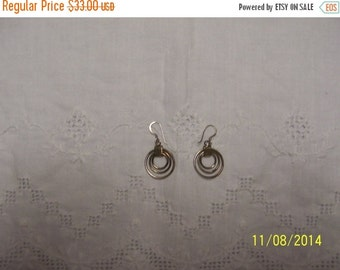 20 OFF EVERYTHING Vintage Circles Dangle earrings. Sterling Silver.