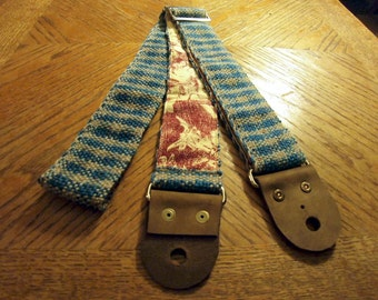 Rustic Gingham Hand Woven Guitar or Bass Strap