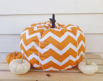 Fabric pumpkin, stuffed pumpkin, decorative pumpkin, halloween decor, thanksgiving decoration, autumn decor, fall decor, patterned pumpkin