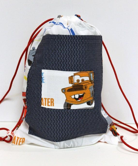 Disney Cars Child's Drawstring Backpack