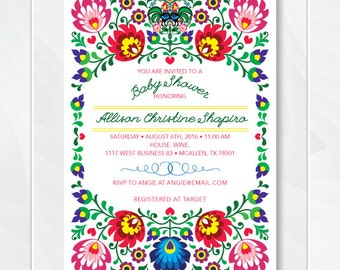 Cinco De Mayo Invite, Fiesta Baby Shower Invitation, Mexican Fiesta Invite, Fiesta Birthday Invite, Couples Baby Shower Invite, #0100