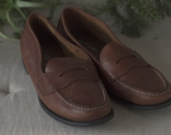 Women's Eastland Penny Loafer, Brown Leather, Size 7