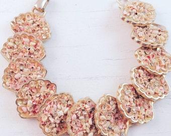 Signed Kramer Seashell Bracelet Confetti Seashells Beach Jewelry