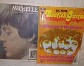 Vintage Beatles Music Book Guitar Big Note And Michelle Sheet Music