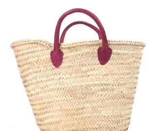 Leather Handle Market Basket