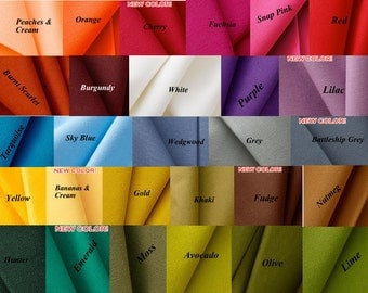 Custom Made To Order-Roman-Shades-Cotton Canvas-Fabric ( Any size up to 29'' wide x 60'' long  only) Pick A Color
