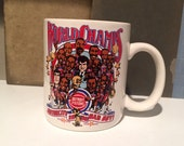 Vintage 80s Mug - DETROIT PISTONS - Motor City Bad Boys 1989 - World Champs