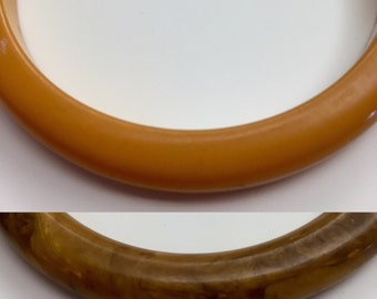 Bakelite bangles buy as lot, set or individually THIS listing is for 2 plain Yellow bangles ONLY 69.00 EACH