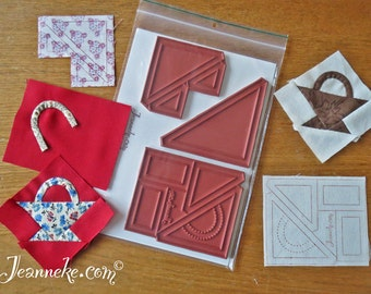 Postage Stamp Basket Quilt stamp set