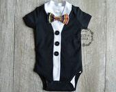 Baby Cardigan Onesie Set - Black Short Sleeve Cardigan Set- Baby Boy or Baby Girl Cardigan Onesie Set-Halloween Cardigan Onesie Set