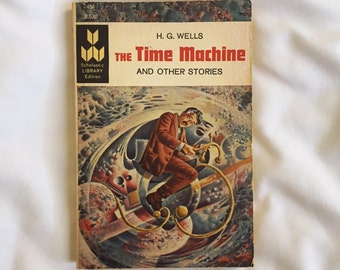 The Time Machine & Other Stories by H.G. Wells vintage book - 1966