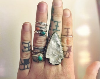 Crystal Quartz Arrowhead Ring