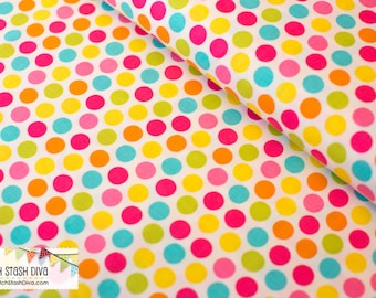 Yellow Diddly Dots on White From Michael Miller