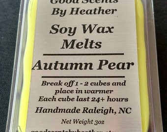 Autumn Pear 3oz Soy Tarts - Wickless Candles - Stocking Stuffer - Teacher Gift - Hostess Gift