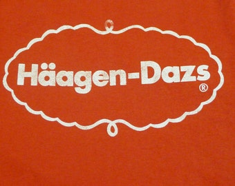 Vintage 80s Häagen-Dazs Ice Cream Red T-Shirt