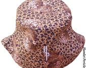Leopard print Unisex Bucket Hat | Brown Leopard Hat | Camouflage Hat | Animal Print Hat by Hamlet Pericles