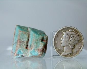 Natural Amazonite Feldspar Microcline Crystal Specimen Rough Mineral From Park County Colorado 7.63 grams natural Facets DanPickedMinerals