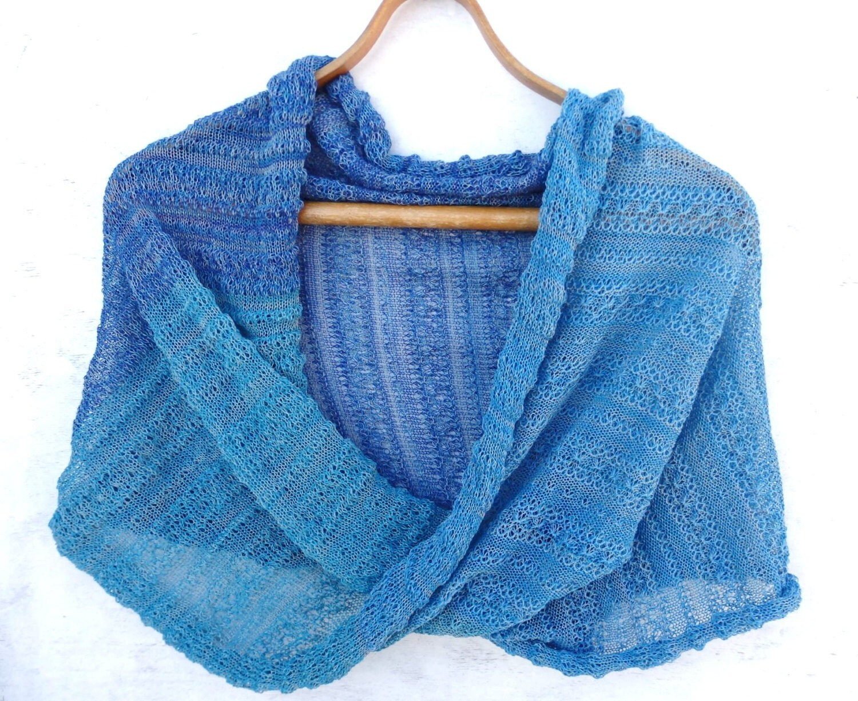 Knitting Pattern Cotton Scarf : Knit cotton infinity scarf knitted cotton wrap circle shawl