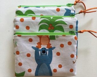 Jungle Book zipper coin purse