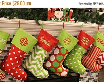 SALE Christmas Stockings Christmas Stocking Monogrammed Christmas Stockings Personalized Christmas Stocking 16 Patterns Availble