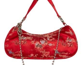 Asia Major Red Silk Baguette X American Deadstock
