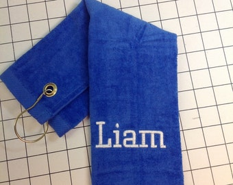 custom towel with one name or one line only. No design
