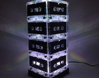 Plug in Mixtape Light WHITE Cassette Tape Lamp Mood Light Music Lover Pop Culture