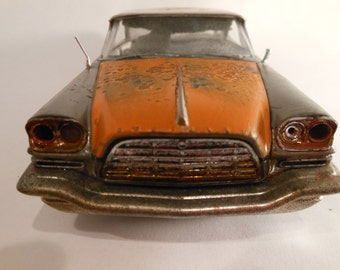 Handmade, Classicwrecks, Rusted Scale Model ,Chrysler Car,  Black Model, Hobby Lobby,Rat Rod