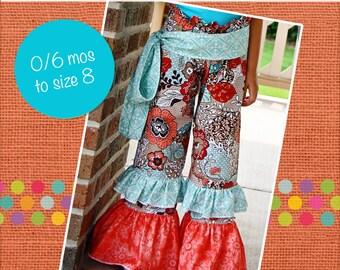Alyssa's ruffle waist Pants PDF Pattern 0-6 months to girls 8