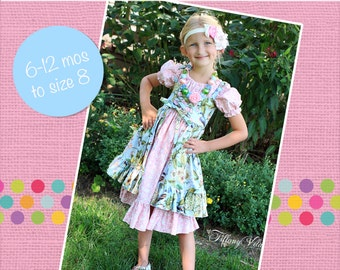 Cassidy's Corset Cover Dress and Top PDF Pattern Sizes 6/12 months to size 8