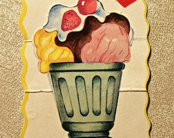 Vintage Ice Cream Valentine