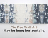 Rectangular Tie-dyed Abstract Wall Art in Smoke Gray, Seafoam Green, and Sand on Creamy White
