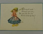 1913 Dutch Postcard Made in USA.
