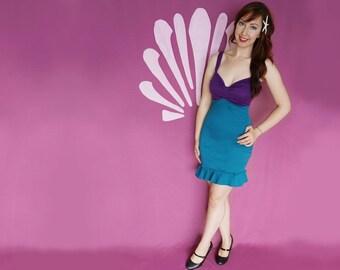 Ariel Dress - Princess Ariel Costume - The Little Mermaid - Disneybound Dress - Purple Green Bodycon Summer Dress