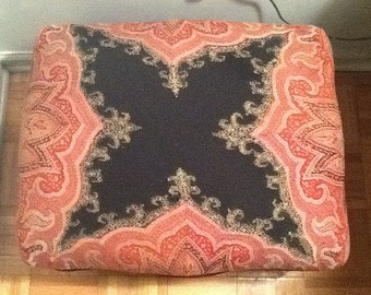 Victorian Wool Paisley Bench/stool