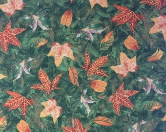 Autumn Leaves fabric by the yard, 100% Cotton by Wilmington Prints