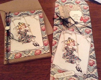 Greeting Card and Tag, Blank Inside, Handmade Card
