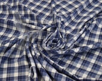 Cotton Flannel Plaid 12 Tartan Fabric by the Yard