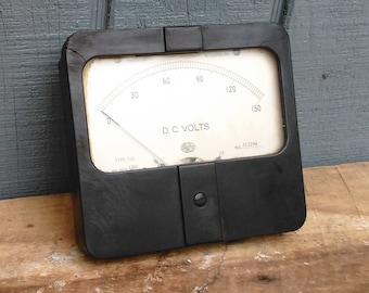 Industrial Meter - Steampunk D.C. Voltage Meter