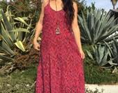 Vintage Dress// Indian Cotton Dress// Gauzy Handmade Maxi Dress