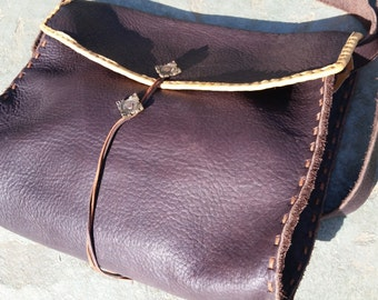 Leather satchel based on a 6-7th century Scotland find.