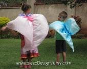 3 pair of Rainbow Butterfly Wings in Silk - CUSTOM ORDER for Jen